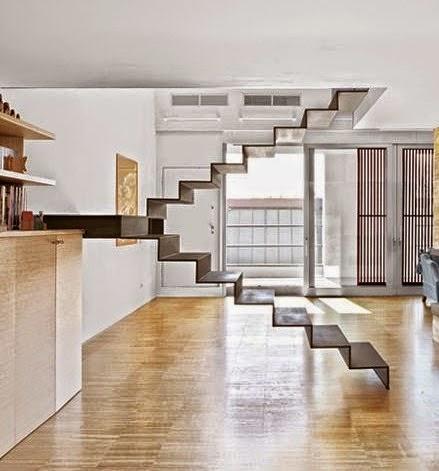Contoh Gambar tangga rumah modern