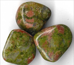 Unakite,  Tumbled stones, tumblestone meanings, A-Z tumbled stones, healing properties of tumbled stones, magickal healing properties of tumbled stones, tumbled stone information