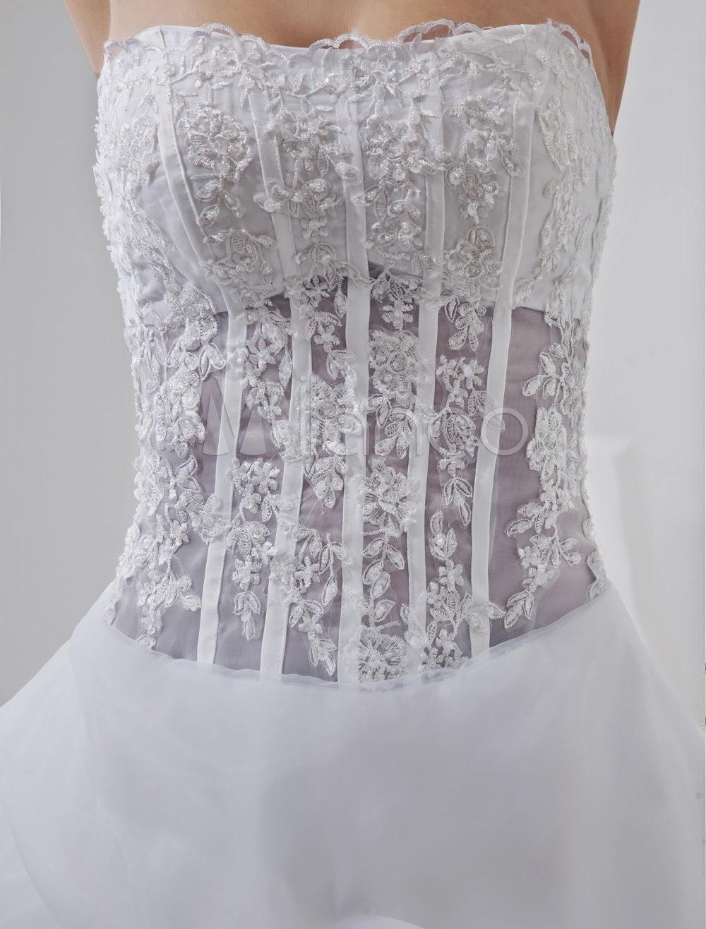 Sash Satin Organdi Robe de mariée