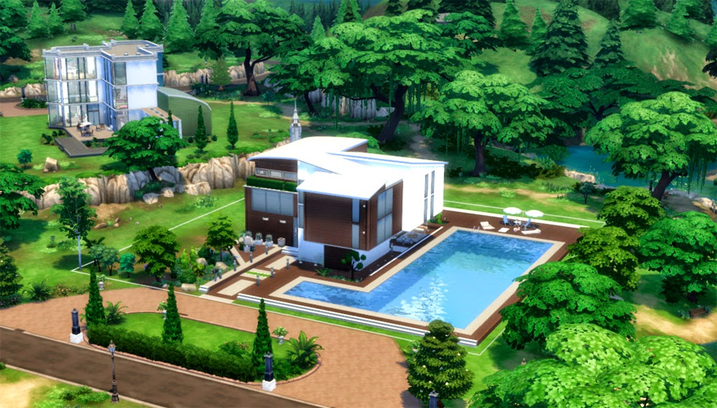 Sims 4 claudia s house for Piscina sims 4
