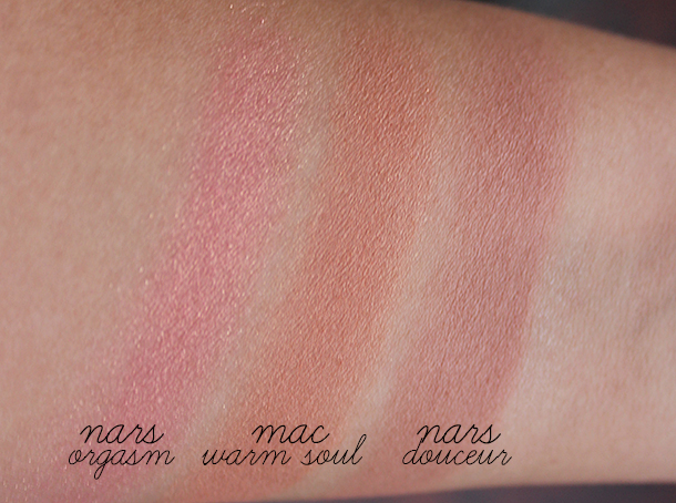 mac warm soul blush swatch