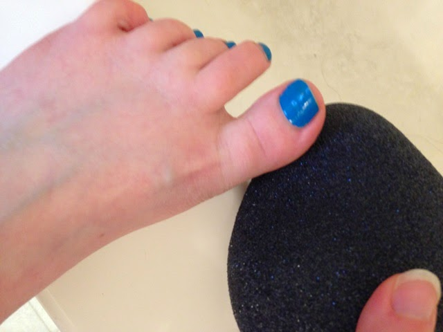 ProFoot Pedi Rock in use on my foot
