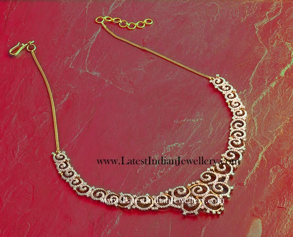 Elegant Designer Diamond Necklace