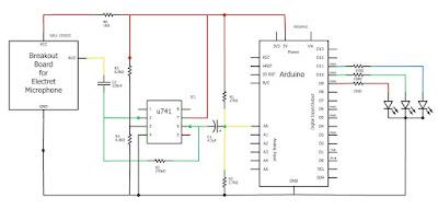 Esquema del organo de luces con Arduino
