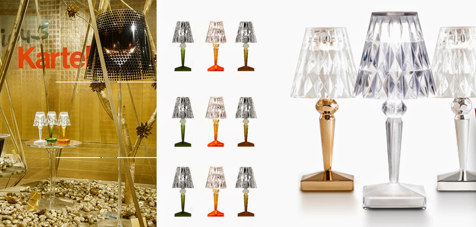 Fedegredesign precious kartell collection for Piantana kartell
