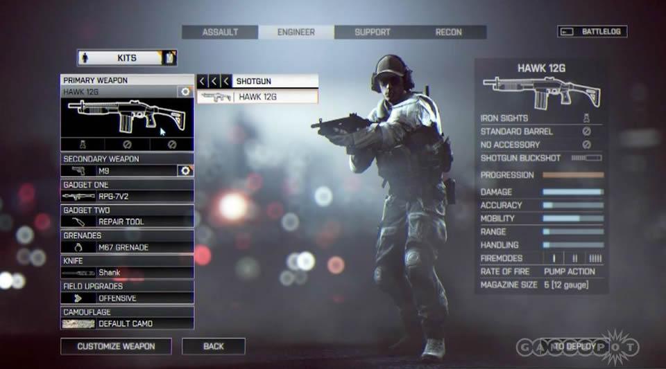 Battlefield 4 - Tudo Sobre Customização de Arma e de Soldado Battlefield-4-menu-options-1