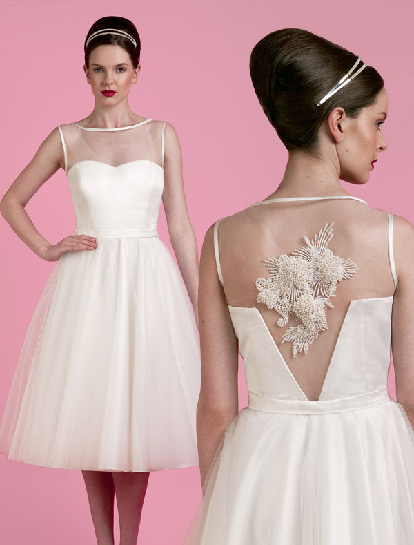 Spring Short Wedding Dresses 2014 From Tobi Hannah