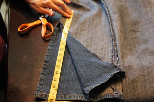 diy bell bottom jeans