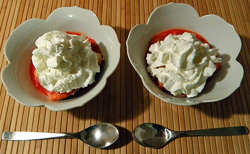 Two Bowls of Cobbler with a Lot of Whipped Cream