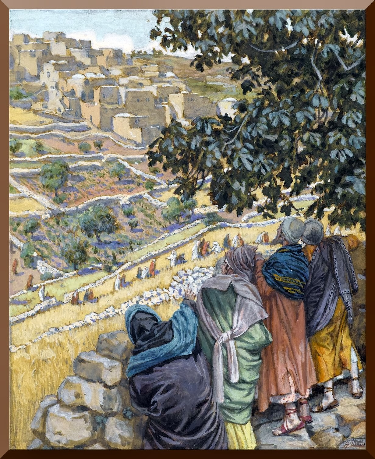 """""""The Disciples Eat Wheat on the Sabbath"""" -- by James Tissot"""