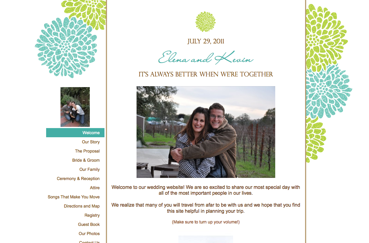 love life and decorating step four your wedding website