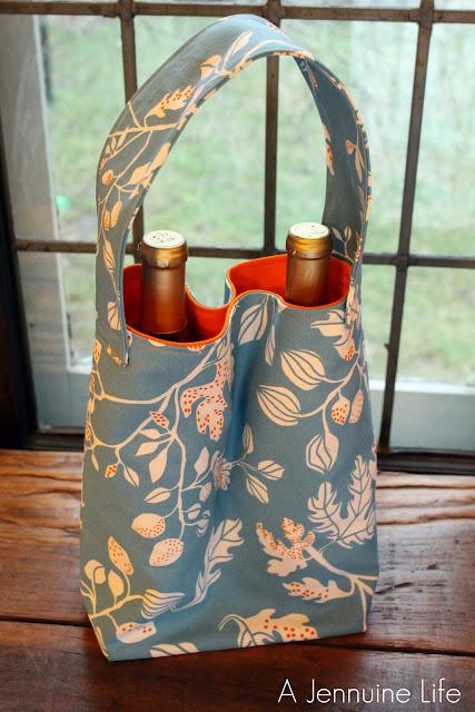 Wine Tote Bag Pattern 5