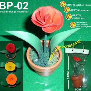 Bunga Kering Mawar Pot