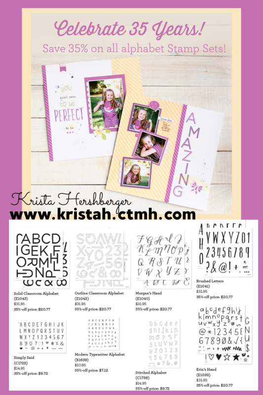 Alphabet Stamp sets --- 35% OFF!!