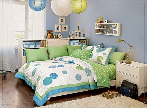 beautiful girls bedroom with soft blue themes