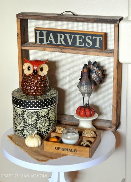 Harvest Table Decor Craft O Maniac