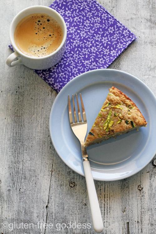 Low Sugar Gluten-Free Zucchini Quinoa Breakfast Cake