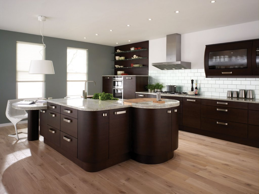 2011 contemporary kitchen design and decorations pictures for Small contemporary kitchen designs