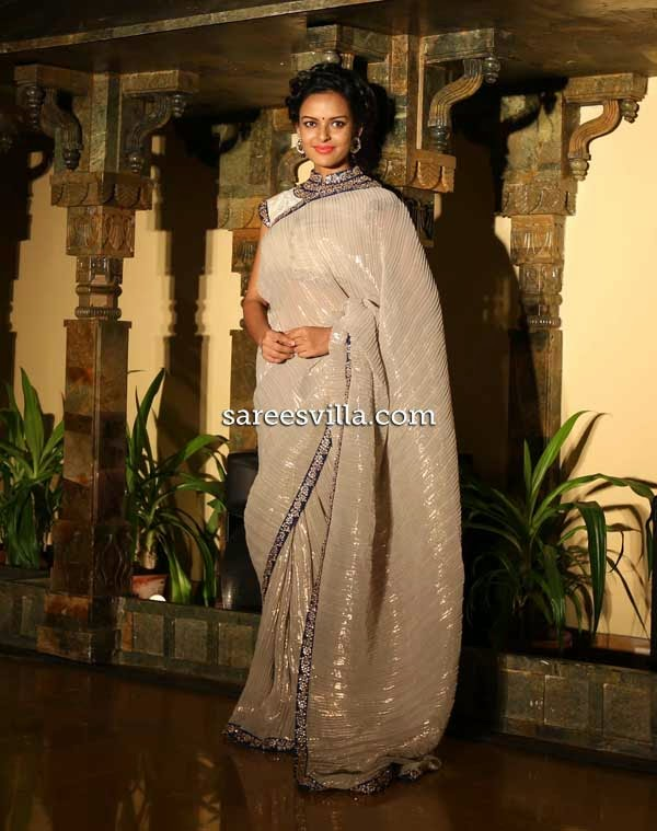Bidita Bag in Designer Arnab Sengupta's Saree