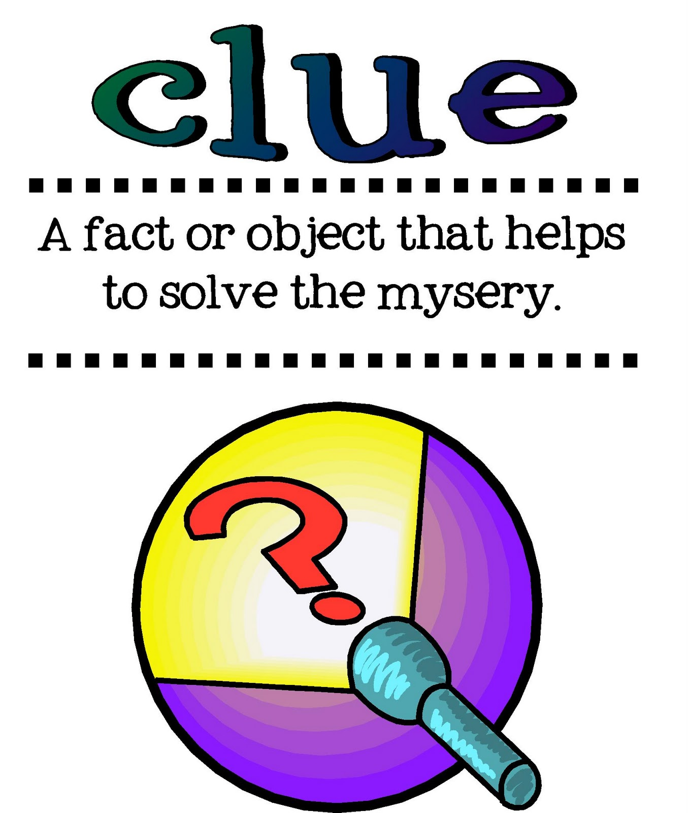 Mystery: My Teaching Spirit: Mystery Genre Vocabulary Posters