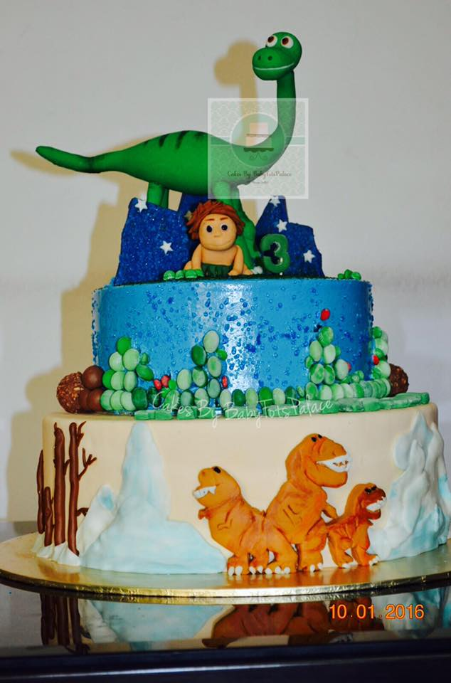 Good Dinosaur Cake Design : Flair Cakes Sisters: Good Dinosaur cake _ Arlo & Spot
