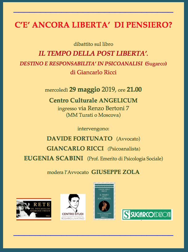 Presentazione del libro IL TEMPO DELLA POST LIBERTA'