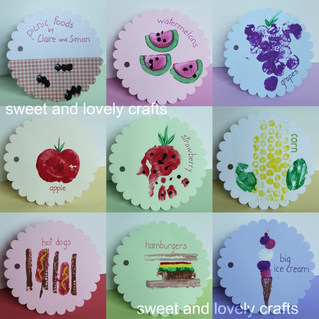 Sweet and lovely crafts picnic food book for Food crafts for preschoolers