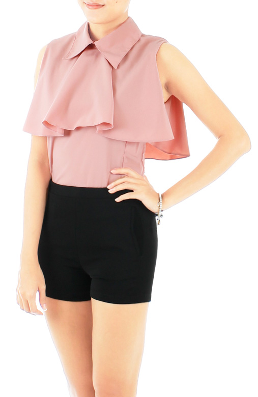 Pink Mini Cape Top with Collars