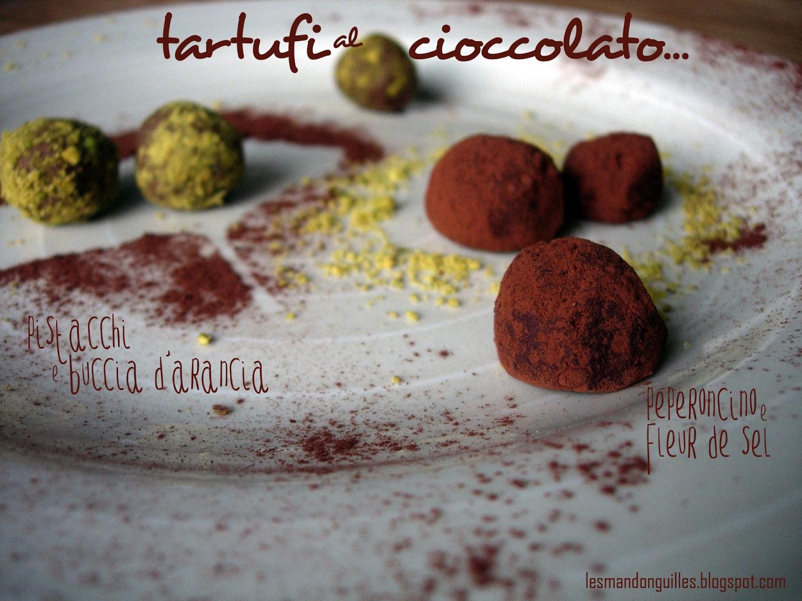 tartufi al cioccolato piccanti e aromatici
