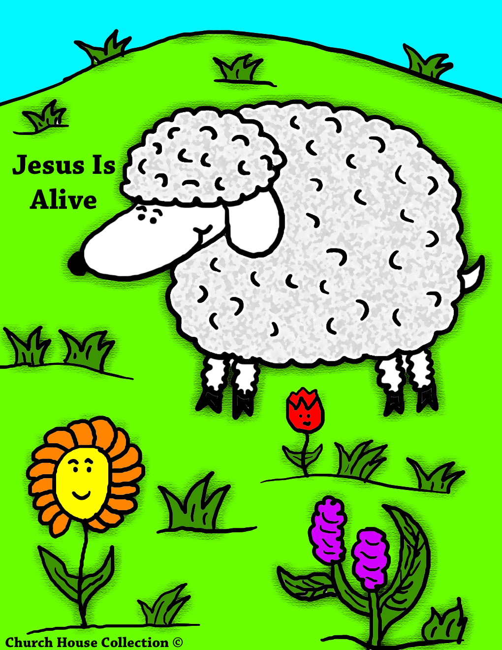 Church House Collection Blog Easter Sheep Jesus Is Alive