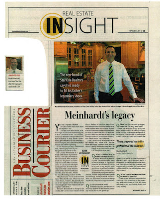 "Star One in Courier   JPG   9 2 11 - Business Courier - ""Meinhardt's legacy"""