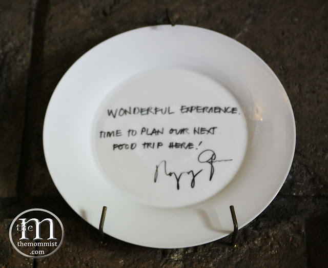 C'Italian Dining signed plate by President Aquino