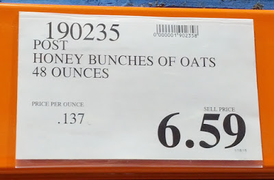 Deal for Post Honey Bunches of Oats with Almonds Cereal at Costco