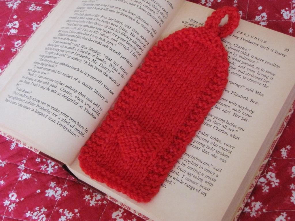 Valentine Heart Bookmark Knitting Pattern Natural Suburbia