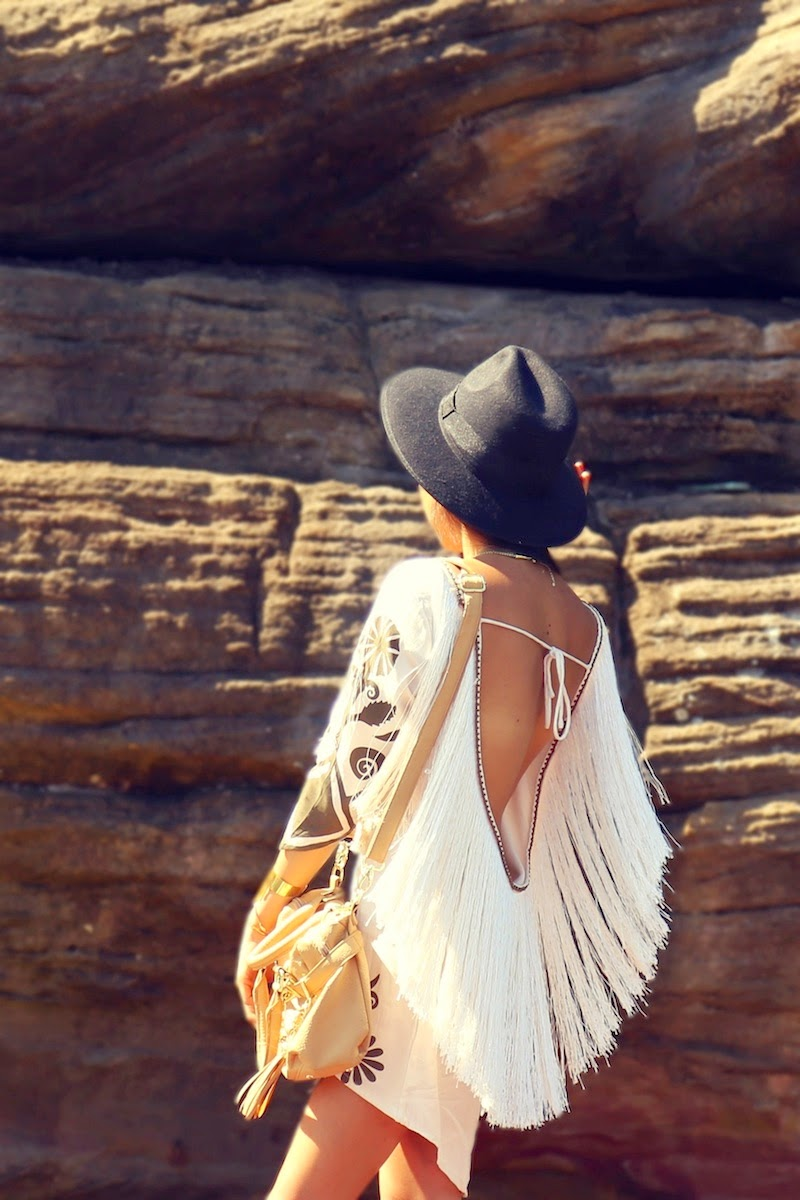 Spell & the Gypsy Collective, Steve Madden, Mollini, The Mania Mania, Real Leaf Jewellery, Lack of Color, House of Harlow, Boticca, boho, bohemian, Gypsy style, bohochic, fringe dress, festival style