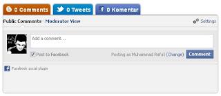 Cara membuat kotak komentar Blog Twitter Facebook