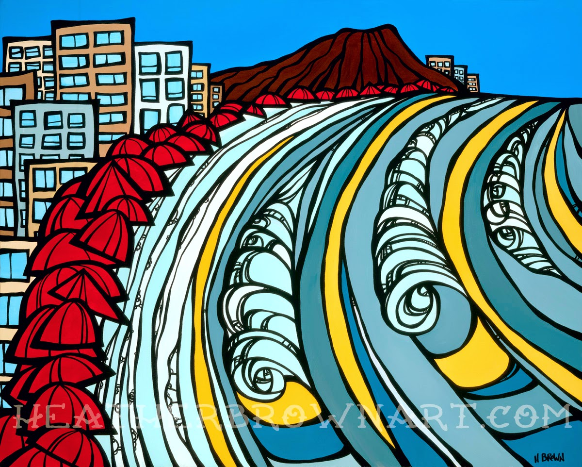 Surf art Hawaii