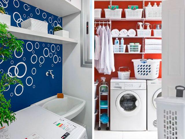 parede da lavanderia pintada