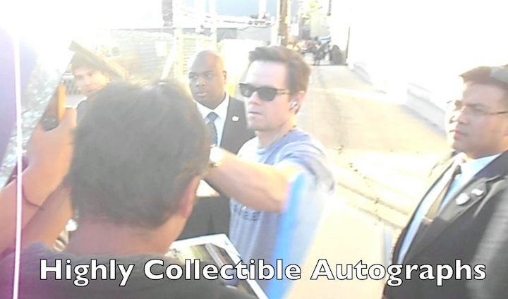 how to get mark wahlberg autograph