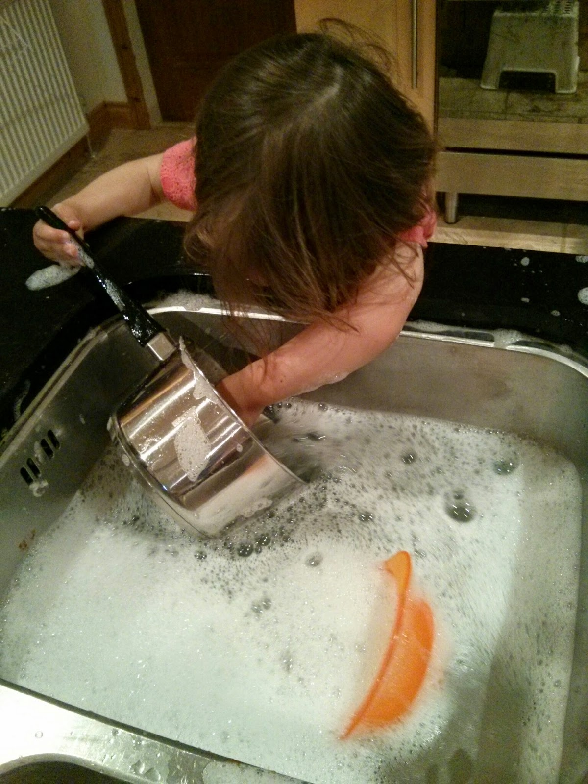 youngest washing up