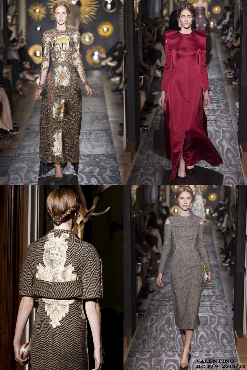 Valentino Haute Couture F/W 2013-14, Paris Haute Couture, Fashion week, baroque, medieval