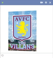 aston villa fc football emoticon Kode Emoticon Chat Facebook Klub (Team) Sepakbola