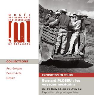 Capture d'écran de la présentation de l'exposition sur le site internet du Musée de Besançon