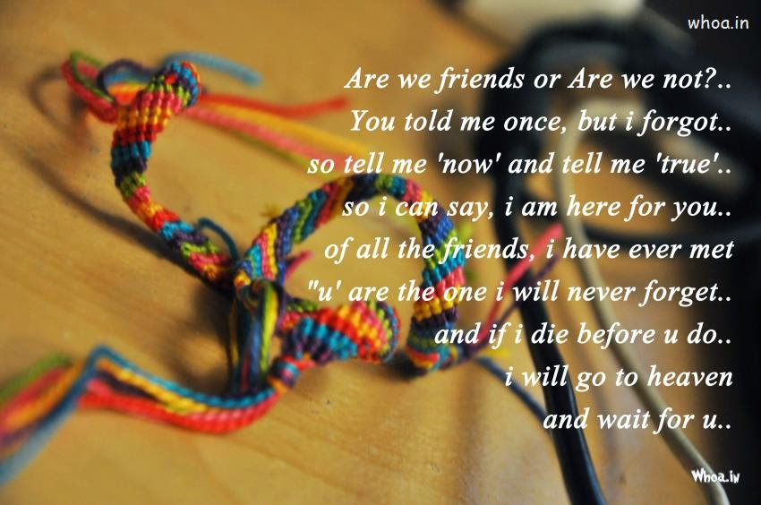 Friendship Day Poem Image