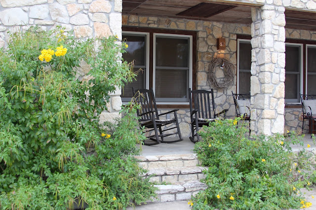 Front Porch of San Gabriel River Inn-Joppa, Texas