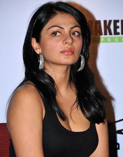 Poonam Bajwa in Cute Black Deep Transparent Black Neck Tank Top Amazing Beauty