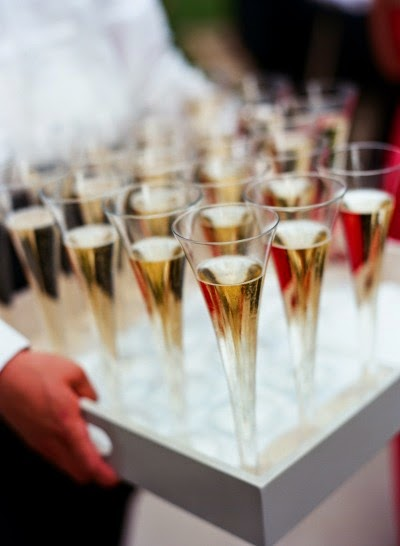 Champagne at a classic Georgia wedding designed by Tara Guérard Soirée and captured by Liz Banfield