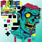 24. Free Vector Zombie art template
