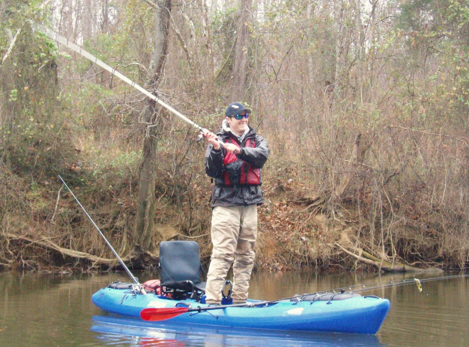 Man powered fishing a jackson kayak coosa elite review for Fishing jackson kayak