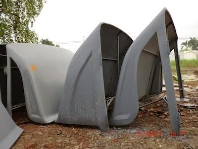 Topi kabin truk / wind deflector